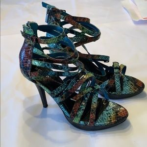 Bertinni colorful python stilettos heels 9